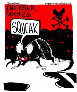 Inktober Day 26: Squeak by Mapplegirl