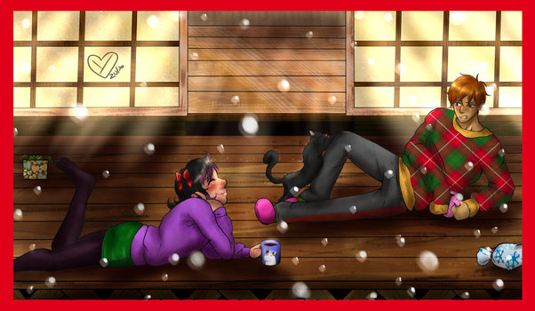 Chu and Serrot Christmas commission~! by Ynnep