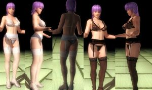 Ayane black and white lace by funnybunny666