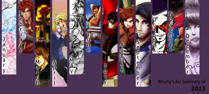 Art Summary for 2013 by witch-girl-pilar
