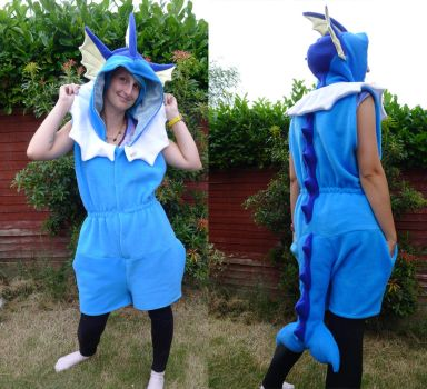 Vaporeon romper by TrafficConeCreations