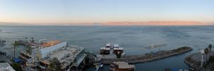 Sea of Galilee Panorama by greenjinjo