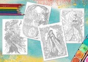 The Elves - colouring pages by JankaLateckova