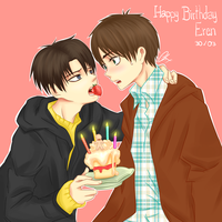 Happy Birthday, Eren by xBulletproofCatx