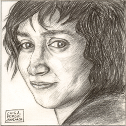 Frodo Baggins - Daily Drawing 2018. by luisperezart