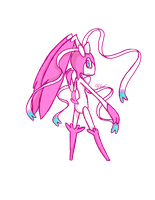 Loppeon loppany/Sylveon fusion by RikoriStorm