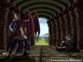 COM : The Priest, General and Succubus by whiteguardian