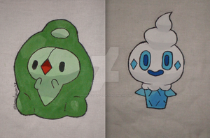 Pokemon Duosion and Vanillite Double Sided Bag