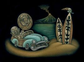 Surf City Tiki by STF-Wooly