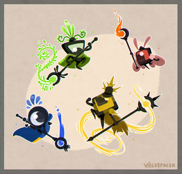 Patapon 4: Priestesses by V0IDSPACER