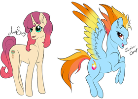 MacBelle and RainSpit Spawn by Whitelupine