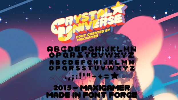 Crystal Universe FONT by MaxiGamer