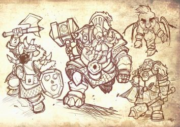 Dwarves - sketches by DenisM79