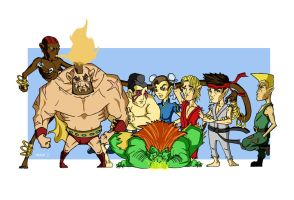 The Street Fighters by Merinet