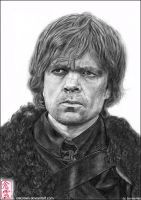 Tyrion Lannister (Peter Dinklage)  Game of Thrones by ElliCrown