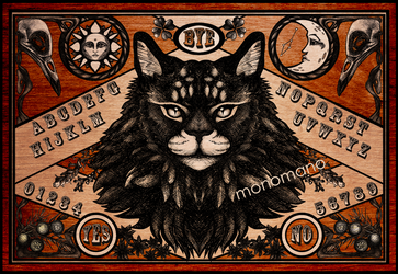 Ouija Board - Maine Coon edition by Monmei