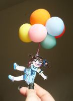 I believe I can fly.Paperchild by Lil-melody