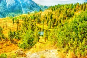 Yellowstone by oldhippieart