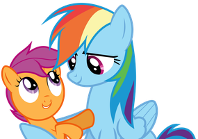Dashie hugging Scoots (S03E06) by DJDavid98