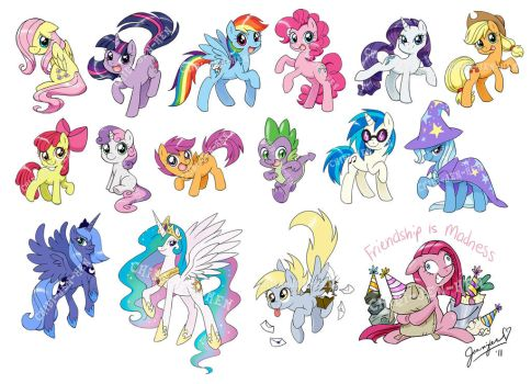 so much PONIES by chibi-jen-hen