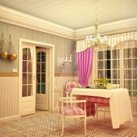 Vintage Styled Room - Night View