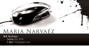 maria's business cards by leopic