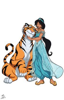 Jasmine and Rajah commission by phil-cho