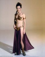 Carrie Fisher: The Metal Bikini Outfit by ChowFanGirl12