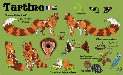Tartine - Reference sheet by Tartoche