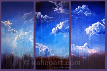 Cloud Triptych by kalicothekat