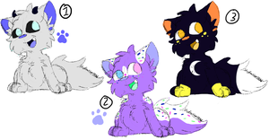 Sketchy kitten point adopts (last one now 15p) by skyfeather0066