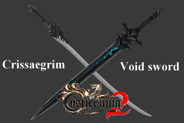 Crissaegirn and Void Sword - papercraft by MorellAgrysis