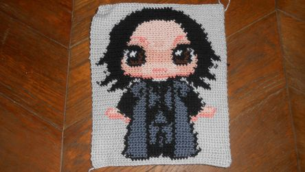 Snape - soon to be pillow by Maintje