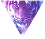 Triangle decor - Tiger by Martith
