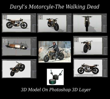 Daryl's Motorcycle The Walking Dead 3D Model by conservancy