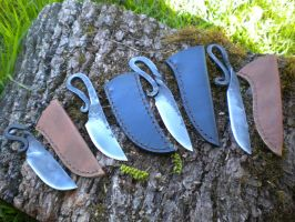 Viking blacksmith's knives by hellize