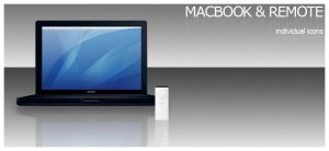 Macbook and remote iKons by funk-meister