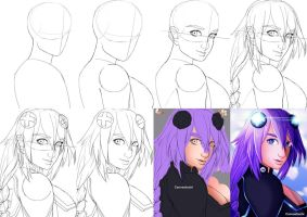 Step by step process by canvasbushi