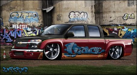 chevy pickup low rider by inferno-87