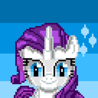 Rarity (pixel art) by SuperHyperSonic2000