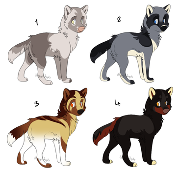 Wolf Pups 3 [CLOSED] by dizzyAdopts