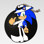 Sonic in White Spy costume by Sonic12Lexi