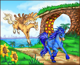 Equus Mobius: Green Hill Zone by ChakotayDgryphon