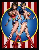 Wonder Woman:  Modern Meets Retro  (8/1/15) by REN1972