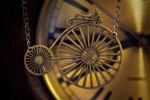 necklace - penny-farthing by Sizhiven