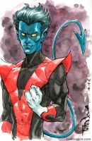 Nightcrawler watercolor by ToddNauck