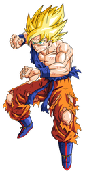 Goku super guerrero namek by BardockSonic