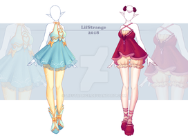 [Open] Adoptable Outfit Auction 266-267 by LifStrange