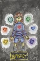 UNDERTALE FANART: Saving Them with Mercy by InvaderIka