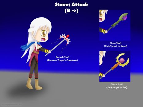 Micaiah Moveset B Lateral: (Staff Attack) by ThanyTony